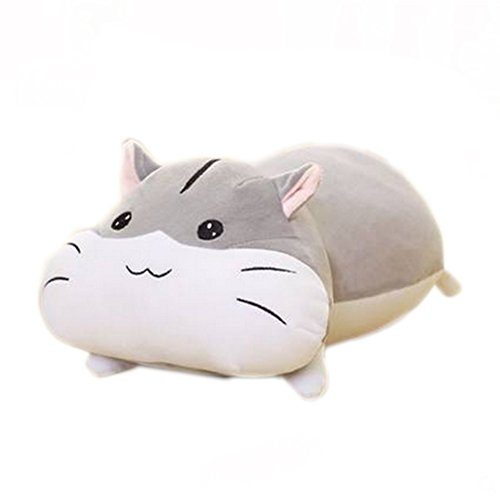 Fat hamster dolls Sleeping pillow Large cute Plush toys (M, gray-circle eyes) (Circle Pillow Big)