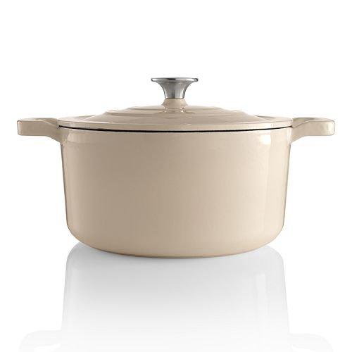 food-network-35-qt-enameled-cast-iron-dutch-oven-light-gray-pearl