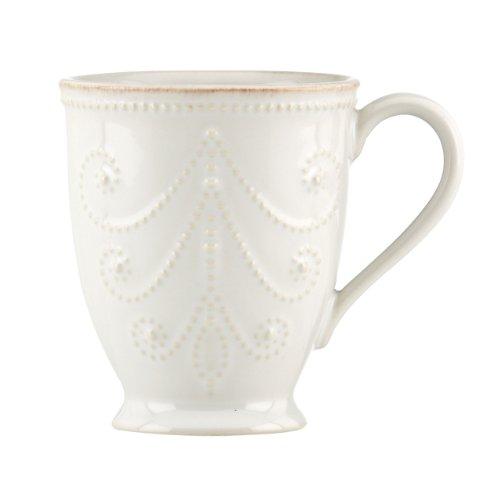 Lenox French Perle Mug, White (Beaded Mug)