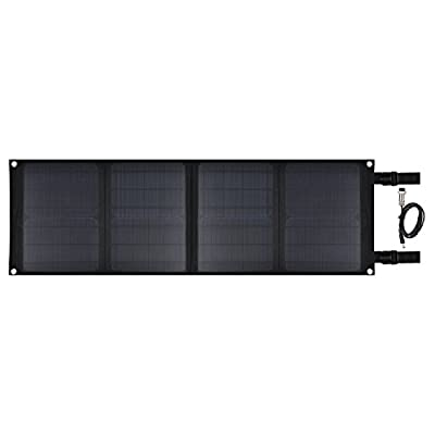 Sunrise 40W Portable High Efficiency Mono-crystalline Solar Panel With DC 18V and USB 5V Output Charger for Laptop, Tablet, Smart Phones, and Other Digital Devices
