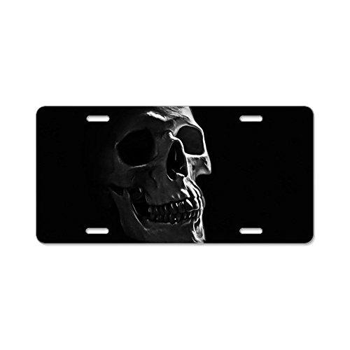 CafePress Human Skull Aluminum License Plate, Front License Plate, Vanity -