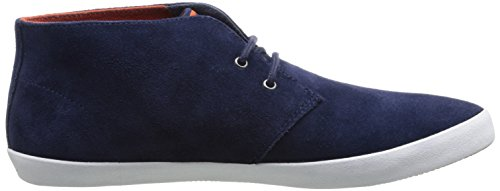 Fred Perry Byron Mid Suede Carbon Blue Red blu
