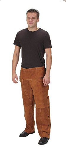 "Condor Welding Chaps, Brown, Leather, 29"" Long"