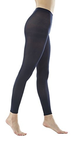 Women's 80Denier Semi Opaque Solid Color Footless Pantyhose Tights 2pair (S/M, Dark - Cuff Tights Footless