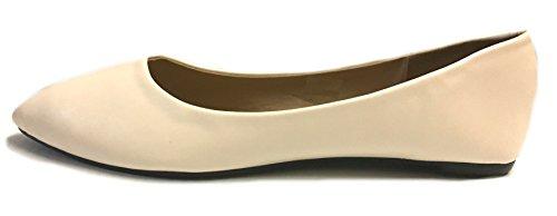 Zapatos8teen Mujeres Faux Suede Loafer Smoking Zapatos Flats 3 Colores 8800 Pu Desnudo