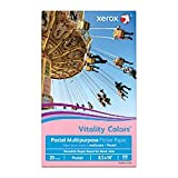 Xerox(R) Vitality Colors(TM) Multipurpose Printer Paper, Legal Size Paper, 20 Lb, 30% Recycled, Pink, Ream of 500 Sheets