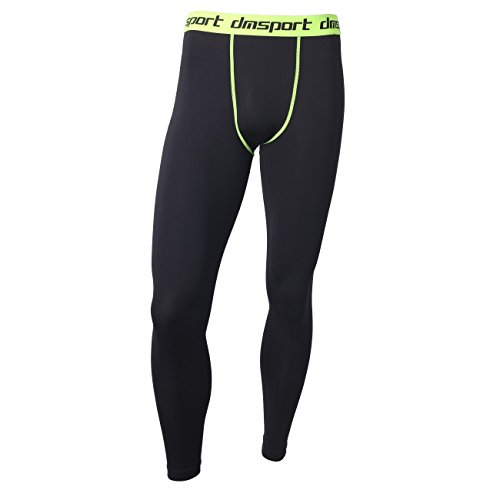 Men's Compression Fitness Pants Cool Dry Running Workout Tights Leggings XL