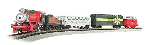 - Bachmann Trains - Merry Christmas Express Ready to Run Electric Train Set - N Scale