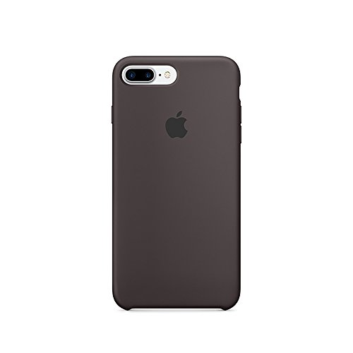 Cocoa Case (Optimal shield Soft Leather Apple Silicone Case Cover for Apple iPhone 7plus (5.5inch) Boxed- Retail Packaging (Cocoa))