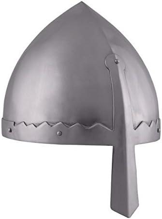 Norman nasal casco con funda de cuero interior - casco de Vikingo - normandos - casco medieval - Vikingo