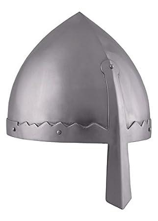 Norman nasal casco con funda de cuero interior - casco de Vikingo - normandos - casco