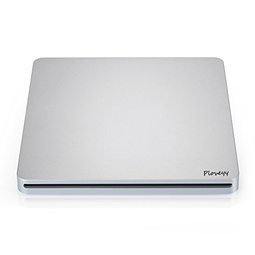 Ploveyy USB External DVD-Reader with CD-RW Burner Drive For All System Windows 2000/XP/Vista/Win 7/Win 8/Win 10 Notebook PC Desktop Computer for Apple Mac Macbook Pro/ Air iMac (Silver) by Ploveyy (Image #2)