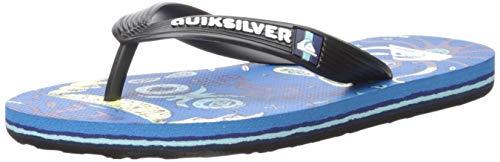 Quiksilver Boys' Molokai Mystery Bus Youth Sandal, Black/Blue/Blue, 10(27) M US Little Kid ()