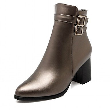 Bootie RTRY US5 Booties Boots Toe For Casual UK3 Boots Round Fashion Spring Shoes Heel Ankle CN34 Buckle Winter Chunky Women'S Boots Wedding Leatherette EU35 xFfCqF0Sw