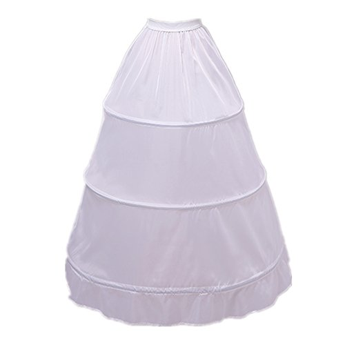 Edress 3 Boned Hoop Full Bridal Slip Petticoat Wedding Underskirt