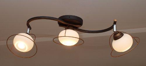 Top Design lámpara de Valencia 3 bombilla lámpara de techo ...