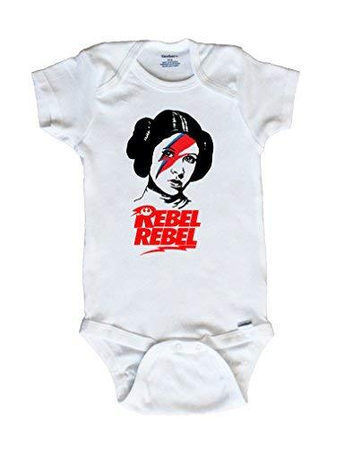 SweetBeetleApparel Rebel Rebel, Princess Leia Baby Onesie (12 Months)