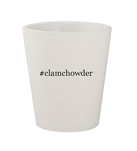 #clamchowder - Ceramic White Hashtag 1.5oz Shot Glass