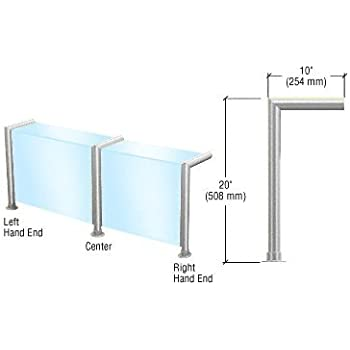 cr laurence sg925ps crl polished stainless elegant series glass on front and top shelf sneeze guard right hand end post only