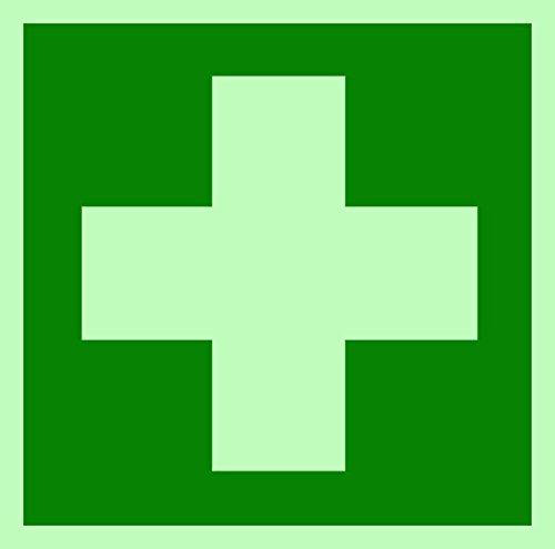 Erste Hilfe/Verbandskasten Schild BGV A8 leuchtend