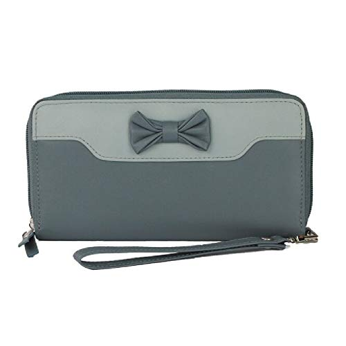Eastern Counties Leather Womens/Ladies Adana Wallet With Bow Detail (One Size) - Charcoal Adana
