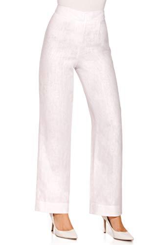 Boston Proper Women's Casual Linen Straight-Leg Trouser Pant White 2 (Straight Leg Linen Trousers)