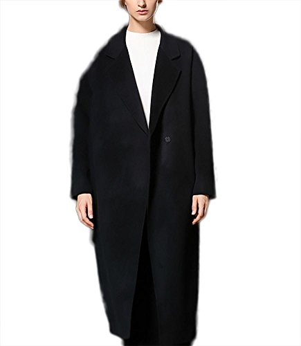 Abiti L donna Giacca XL in lunghi bifacciale a Outwear Suit lana cashmere Fit Ispessimento autunno Black M Verde Casual Rosso Nero inverno Slim vento in Capispalla Giacca Cappotto S TqOAgE
