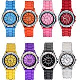 Zantec 2013newestseller Wholesale 8 Assorted Silicone Jelly Women`s Watch