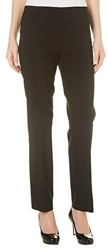 Zac & Rachel Womens Pull On Solid Millennium Pants 10 Black