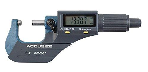 accusizeツール – 電子、デジタル外側マイクロメータ、0 – 1 in / 0 – 25 mm , 1 – 2 in / 25 – 50 mm、2 – 3 / 50 – 75 mm / 75 – 100 mm、4 – 5 / 100 – 125 mm、5で、3 – 4 – 6でで/ 125 – 150 mm B00SG6C9YA 0-1