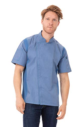 blue chef coat - 7