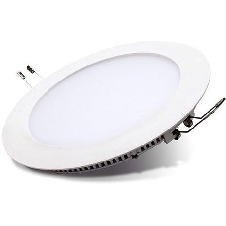 Plafón de techo empotrable de LED 9 W fácil de instalar – Genial para sala de estar, dormitorio, cocina, cuarto de baño, pasillo, oficina.Foco de luz ...
