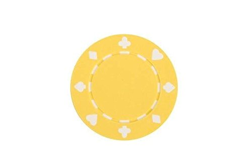 (CHH 2702P-YLW 50 Piece Suited Composite Poker Playing Chips, Yellow and White)