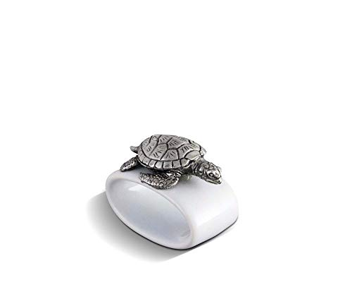 Vagabond House Sea Turtle Stoneware Napkin Ring 2