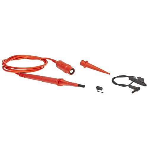 Fluke VPS220-R 5 Piece Double Insulated Voltage for 190 Series ScopeMeter, 1.2m Cable Length, 100:1 Attenuation, Red