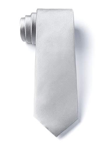 Wedding Silver Wedding Silver Silk Tie For Boys