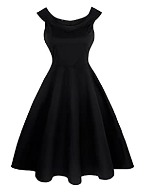 Angerella 50s Retro Vintage Party Dress Picnic Sleeveless Dresses For Women