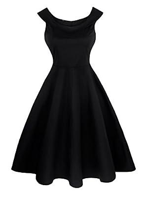 Angerella 50s Retro Vintage Party Dress Picnic Sleeveless Dresses For Women