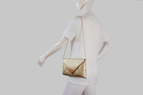Diseño de sobre slim dorado metalizado bolso de mano de by Olga Berg