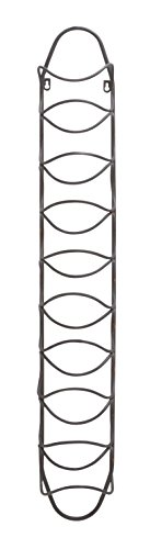 Deco 79 Metal Wall Wine Rack, 7 by 45-Inch
