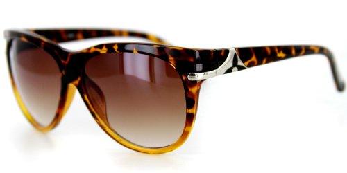 Havana Designer Sunglasses with Large Lenses and Rounded Wayfarer Shape for Youthful, Stylish Women (Yellow Tort w/ - Rounded Wayfarer