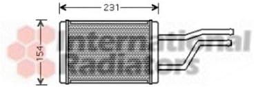 Interior Heating Van Wezel 53006326 Heat Exchanger