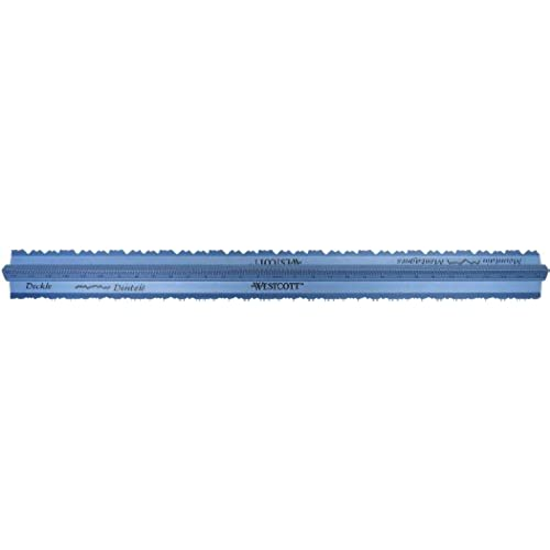 well-wreapped Westcott Grip and Rip Aluminum Tearing Ruler, Mountain and Deckle, 12""