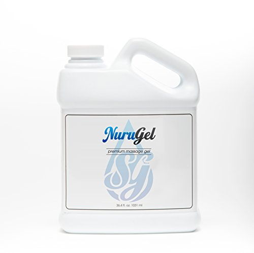 Premium Nuru Gel by SG | 36.4 Ounces | Super Thick Gel Made From Seaweed For the Ultimate Body-on-Body Nuru Massage | Made In the USA from Top Quality Ingredients (Gel Premium Nuru Massage)
