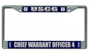 U.S. Coast Guard Chief Warrant Officer 4 Chrome License Plate ()