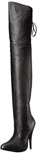 Leder Overknee Stiefel schwarz, Größe 35 (35)