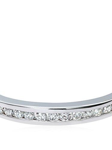Revoni - Bague Éternité en or blanc 9 carats et diamants