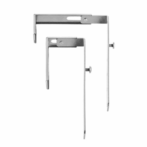(STEELMASTER Slot System Partition Hangers, for Use on 1.38 to 3.63-Inch Partitions, Set of 2, Silver (264P10150))