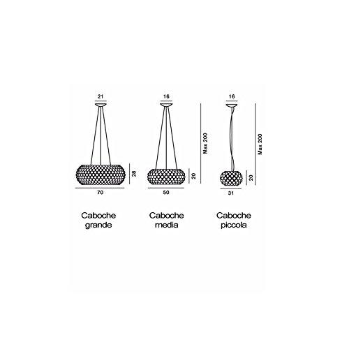 Caboche Foscarini lampada a sospensione trasparente - Standard ...