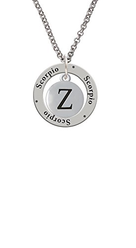 capital-letter-z-pebble-disc-scorpio-affirmation-ring-necklace